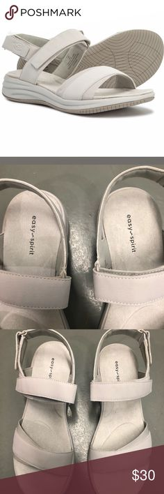 1f5ea97045ba2 Easy Spirit Wedge Sandals Grey Fabric Size  9 M Women s Easy Spirit Draco3  Wedge Sandals