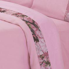 HiEnd Accents Pink Oak Camo Sheet Set