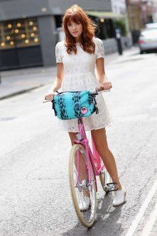 Ride your bike in style with the Giles Deacon limited edition bag