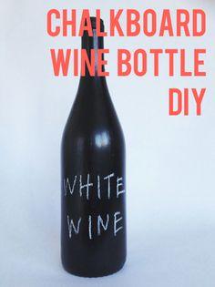 Chalkboard Wine Bottle DIY | The Post Social | The Post Social