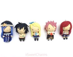 Fairy Tail Natsu Lucy Gray Erza Juvia Chibi Clay Charm [SOLD SEPARATELY!] by iisweetcharms on Etsy https://www.etsy.com/listing/265647653/fairy-tail-natsu-lucy-gray-erza-juvia