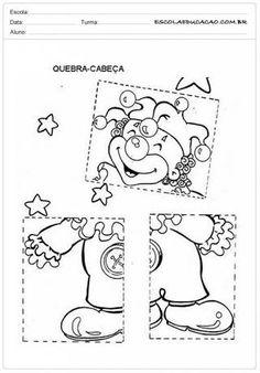 Resultado de imagem para DIA DO CIRCO Le Puzzle, Circus Theme, Mardi Gras, Kindergarten, Letters, Album, Education, Puzzles, Scrapbooking