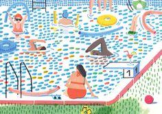 La piscine par Charline Picard Illustration éditée par L'illustre Boutique…