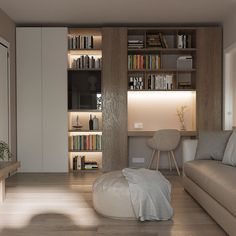 My Home Design, Home Office Design, House Design, Home Studio, Next At Home, Home Living Room, Modern Bedroom, Bookcase, Sweet Home
