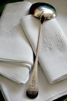 Love the linens and the antique silver