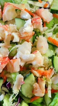 Lobster Salad with Lemon Dressing Recipe. Nothing makes me smile like shrimp, and in such a healthy way. Lobster Recipes, Fish Recipes, Seafood Recipes, Salad Recipes, Great Recipes, Cooking Recipes, Healthy Recipes, Vegetarian Recipes, Lobster Salad
