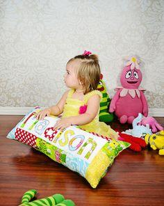 Yo Gabba Gabba Name Pillow by NamelyPillows on Etsy, $35.00