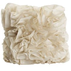 Ruffles Pillow - Sand, to go with my metallic clay pillow on my bed! :-)