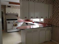 vintage retro metal kitchen cabinets geneva mid century 1952 - Retro Metal Kitchen Cabinets