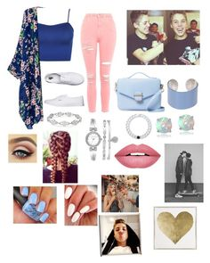 """DATE WOTH MACHEW"" by magcult-member on Polyvore featuring WearAll, Topshop, Vans, Cynthia Rowley, Maison Margiela, Lokai, Glitzy Rocks, Anne Klein, Forever 21 and Oliver Gal Artist Co."