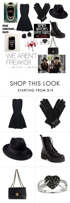 """""""On Wednesday we wear black//American Horror Story//"""" by loveandcandyando2ell ❤ liked on Polyvore featuring Proenza Schouler, Oasis, Penmayne of London, Jeffrey Campbell, Coven, Chanel, Marc by Marc Jacobs and Ice"""