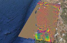 Earthquake of Coquimbo / 09.16.2015 - interferometric image InSARap / Google earth