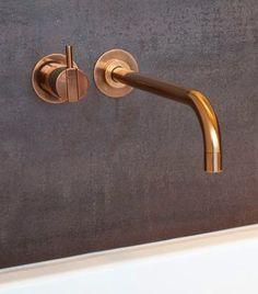 Bathroom Renos, Bathroom Interior, Master Bathroom, Bad Inspiration, Bathroom Inspiration, Plumbing Fixtures, Bathroom Fixtures, Brass Bathroom, Copper Faucet