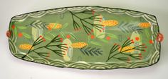 Rectangular Tray, Turquoise. Nancy Gardener Ceramics