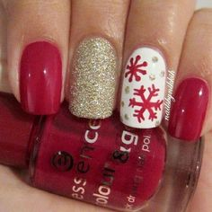 Easy but joyful christmas nails art ideas you will totally love 43