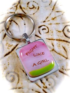 Fight Like A Girl Key Ring by Design4Soul on Etsy, $10.00