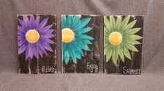 Gerber Daisy Shabby Pallet Art, Distressed Reclaimed wood, Hand painted, handmade, wall decor, Rustic & Shabby Chic Dimensions are approx. 17 tall x 11 wide. This Summer Shabby Artwork is made of reclaimed pallet wood, painted with acrylic paint and distressed by sanding the surface. It would be a great, colorful accent to your front porch or cottage entrance for this summer! **This is the original pictured. Your Purchased picture would be painted 10-14 days after order. Note that wood…