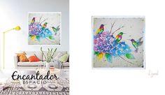 """Obras al óleo: Encontraras la belleza y sofisticación para cada uno de tus espacios.  Obra """"Jun"""" 1.2 x 1.2 mts. Marco estofado plata.  #AmoLizardi"""