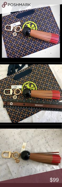 ❤️💕Tory Burch Dipped Tassel Key Fob Brand new with tag   ‼️Bag NOT Included‼️ Tory Burch Accessories Key & Card Holders
