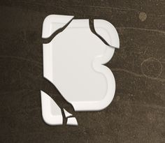 Create a broken plate typography effect