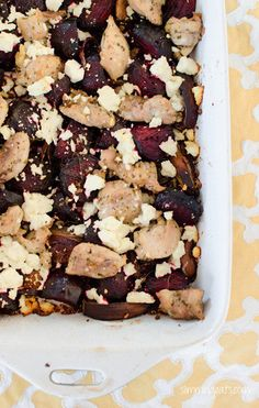 Slimming Eats Chicken, Feta and Roasted Beetroot Bake - gluten free, Slimming World (SP) and Weight Watchers friendly