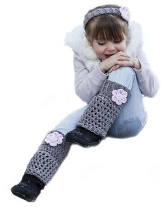 Adorable Crochet Leg Warmers - and they're in Adult sizes too!
