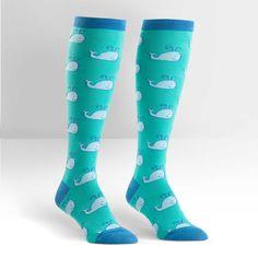 Whales Women's Knee High Sock