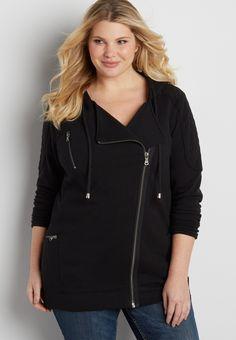 plus size zip up denim romper | shirt collars