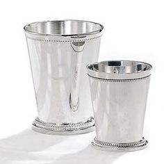 Affordable mint julep cups. Need! $5.75 for the small and $9.25 for the medium size cups.