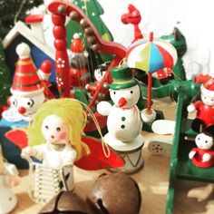 Christmas Already?! Yes, but look at all the fantastic retro wood ornaments eager to adorn your tree. :)