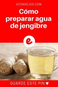 Agua de jengibre para adelgazar | Cómo preparar agua de jengibre | Prueba el agua de jengibre para deshinchar el vientre, bajar el peso, reducir el colesterol y acelerar el metabolismo.