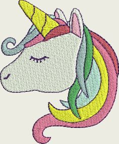 Unicorn karine Brother Embroidery, Baby Embroidery, Free Machine Embroidery Designs, Disney Characters, Fictional Characters, Snoopy, Crochet, Couture, Animals