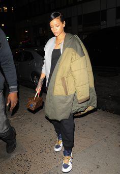 Rihanna layering up in NY. http://asos.do/oWLQd3