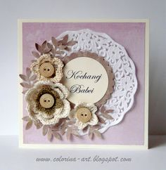 Colorina: Dzień Babci Embossed Cards, Diy Cards, Ants, Teak, Birthday Cards, Card Making, Greeting Cards, Stamp, How To Make