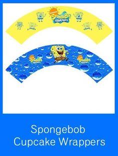 Spongebob Squarepants Cupcake Wrappers - FREE PDF Download