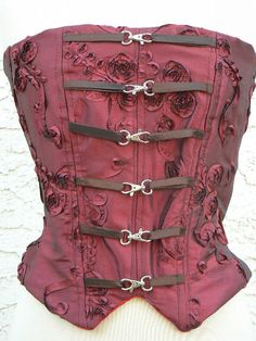 Victorian Bustier Steampunk Taffeta Corset Boned by ItsNotPajamas