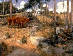 Noonday Rest in New England - Julian Alden Weir