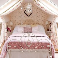 Interior, Pink And Girly Country Bedroom Country Country Homes Interiors Canopy Bed Cool Ideas For Pink Girls Bedrooms With Cute Canopy Cute Teenage Girl Bedroom Design Ideas Teenage Girls Bedroom Tee: How To Make The Girly Beds Seem More Feminine To Add Accessories Flowers