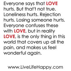 this is true i love being in love but when i start to feel lonely is when things get rough