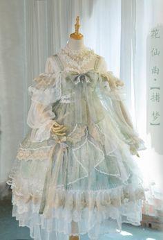 Bramble Rose -The Fairy Princess- Vintage Classic Lolita Jumper Dress,Lolita Dresses, Pretty Outfits, Pretty Dresses, Beautiful Dresses, Cute Outfits, Dress For You, The Dress, Kawaii Dress, Kawaii Clothes, Estilo Lolita