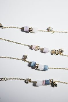I picked up these beautiful beads from CJS & wanted to share how I made these delicate bracelets.      MATERIALS USED:        Skel...