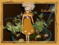Puppenkleidung - *** Minikleid mit Schmetterlingen *** für Barbie - ein…