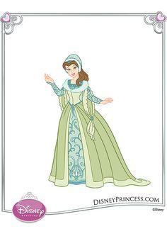 27 Best Princess Belle Green Dress images | Princesses