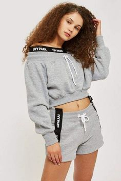 64e31fbdd3d Cropped Oversized Logo T-Shirt by Ivy Park - Clothing Brands ...