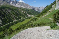Hahntennjoch (Austria), Lechtal, while climbing to Anhalterhütte