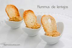 Paté o hummus de lentejas con thermomix Cocina Natural, Mini Appetizers, Canapes, Sin Gluten, Finger Foods, Cornbread, Baked Potato, Catering, Ale