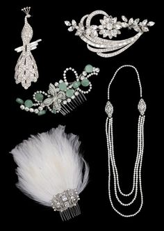 1920s jewelry | Paired with a really simple silhouette, these pieces can really make a ...