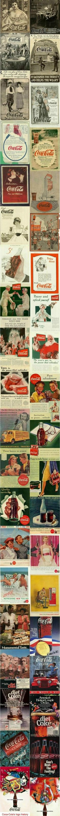 Coca Cola Old Ads. When Coca Cola was first invented it was suggested to use as headache relief. It contained a small amount of cocaine, thus the name. Coca Cola Poster, Coca Cola Ad, Always Coca Cola, World Of Coca Cola, Coca Cola Vintage, Coca Cola Kitchen, Coke Ad, Cocoa Cola, Old Advertisements