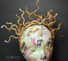 Halloween Costume DIY: Make a Medusa Snake Headband   The TipToe Fairy #halloween #halloweenDIY #halloweencostume