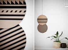 three nations blog: [Geometric decor] wooden circles witch painted geomatric patterns